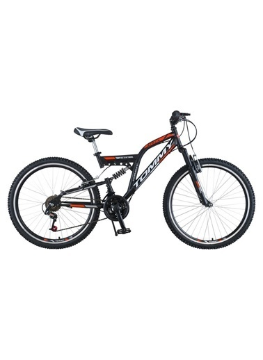 Tommy Bike 24 Double Jant 21 Vitesli Çift Amortisörlü Dağ Bisikleti New Oranj